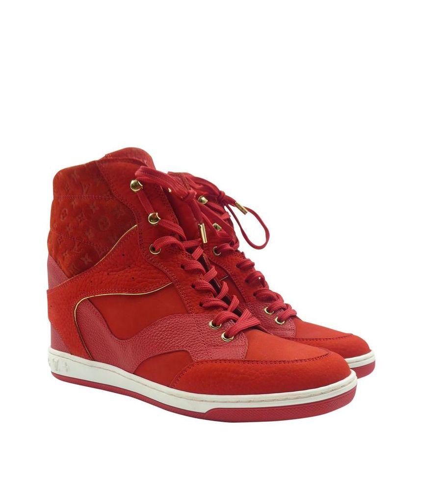 Pantofi sport dama inalti, Louis Vuitton, Cliff Top Hidden Wedge, GO0174