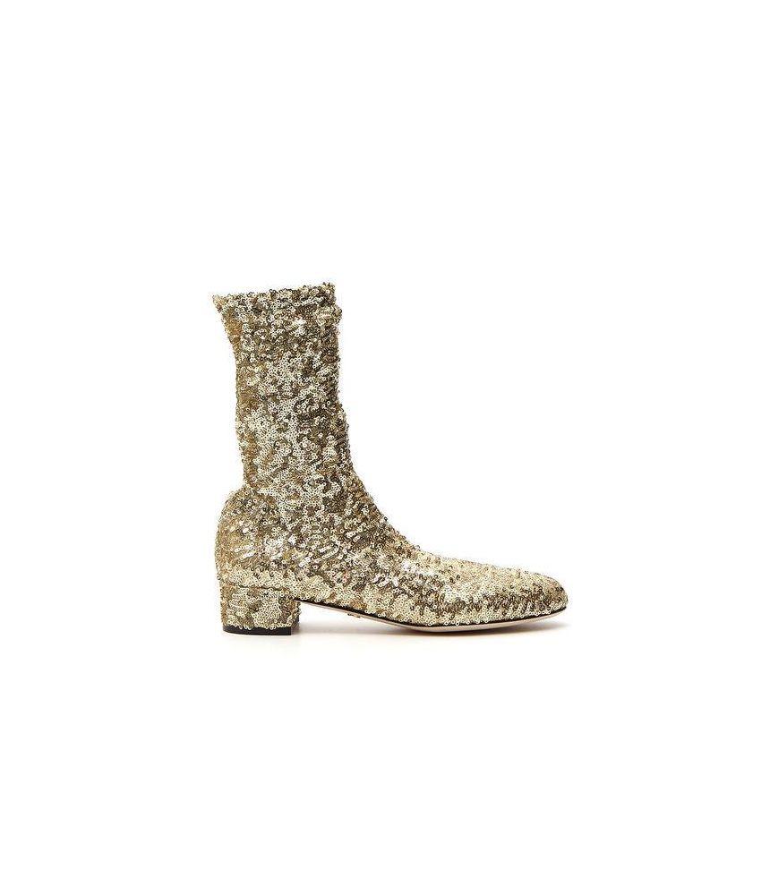 Cizme dama paiete, Dolce & Gabbana, Metallic, P143385