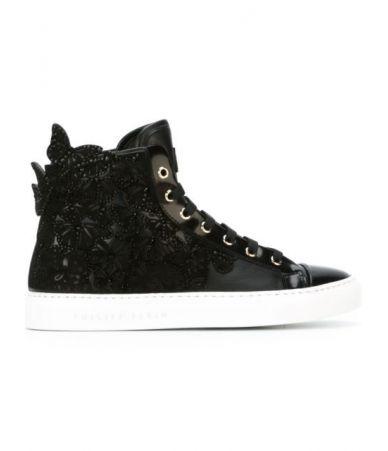 Pantofi sport ghetuta, Philipp Plein, embellished hi top