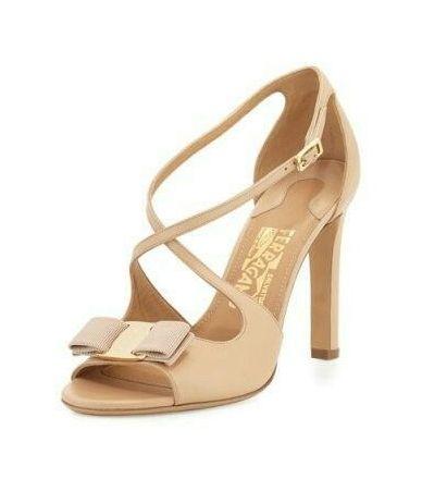 Sandale cu toc, Salvatore Ferragamo, Nude, PY31009365