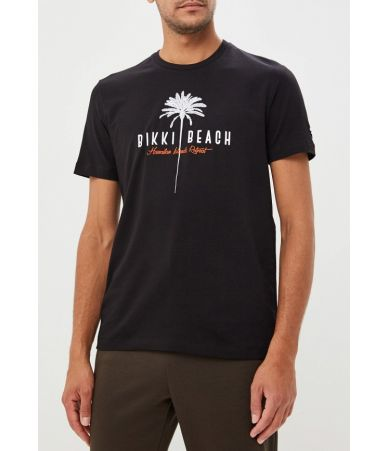 DIRK BIKKEMBERGS, Man t-shirt Bikki Beach Black, C 7 001 D5 E 1823