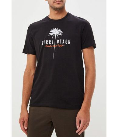 Tricou barbat, DIRK BIKKEMBERGS, Bikki Beach negru, C 7 001 D5 E 1823