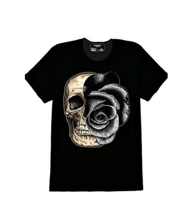 DOMREBEL, Man T-shirt Skull...