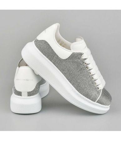 Pantofi sport, Alexander McQueen, Oversized Sneaker Silver, 462215