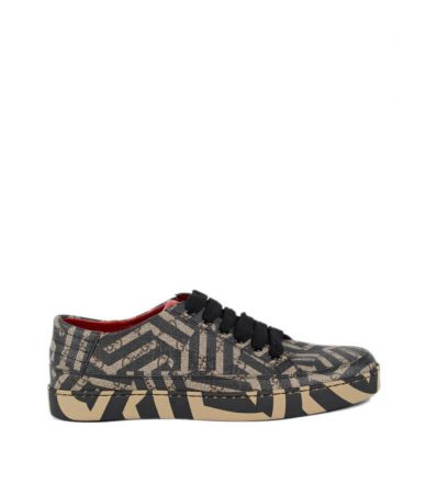 Pantofi sport, Gucci, Printed Canvas Low Top Trainers, 407343