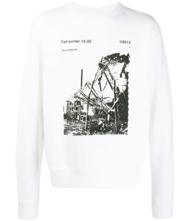 Bluza Off White, Ruined factory, White, OMBA025F19E3001300110
