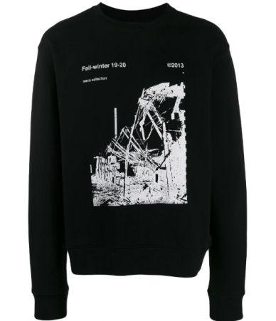 Bluza Off White, Ruined factory, Black, OMBA025F19E3001300110