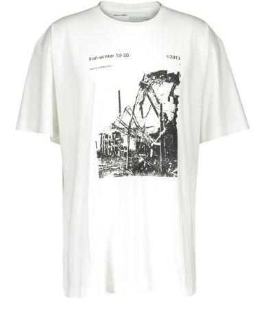 Off White, Ruined Factory, Oversized Tee White, OMAA078F191850130110
