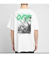 Tricou Off White, Ruined Factory, Oversized Tee White, OMAA078F191850130110