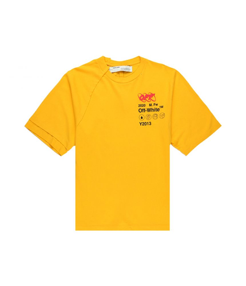 Off White, Industrial T-Shirt In Yellow, OMAA078F191850166010