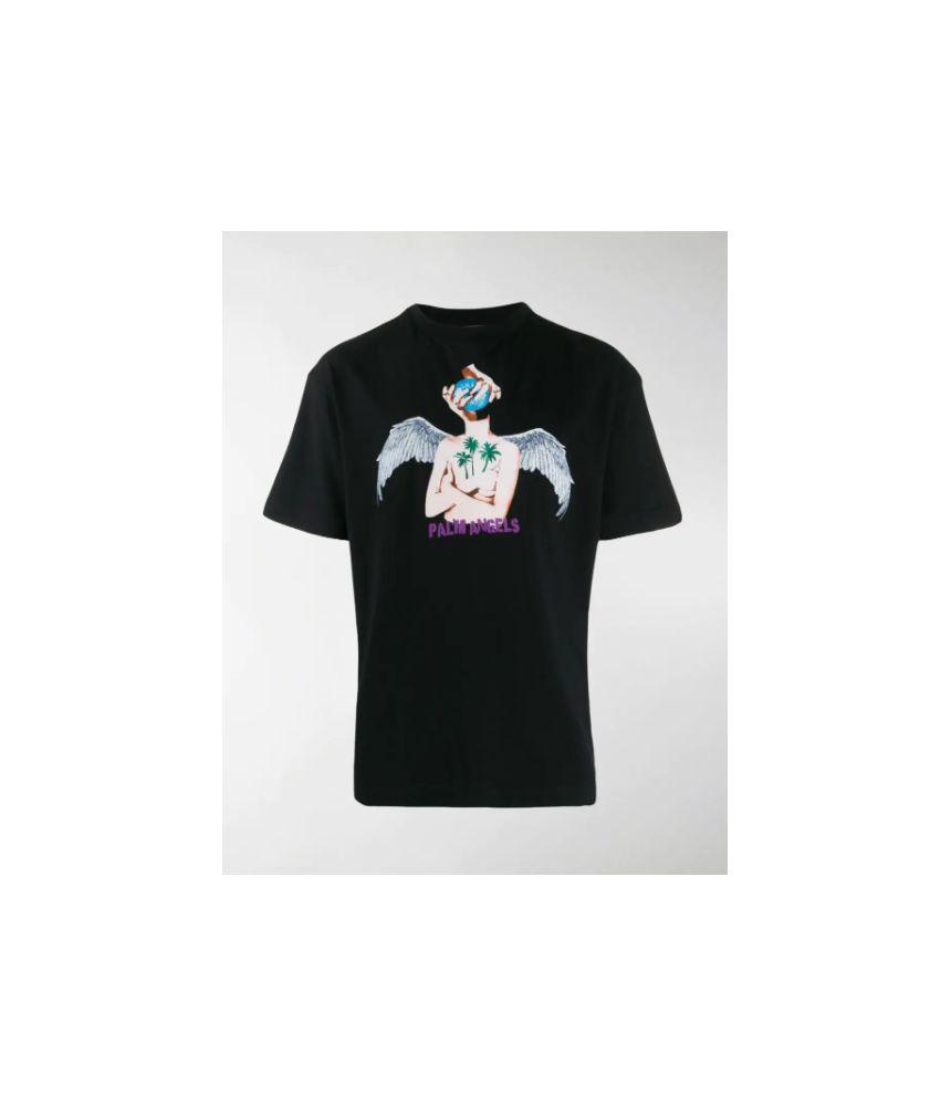 Tricou barbati, Palm Angels, LA angel print, PMAA001F194130321088