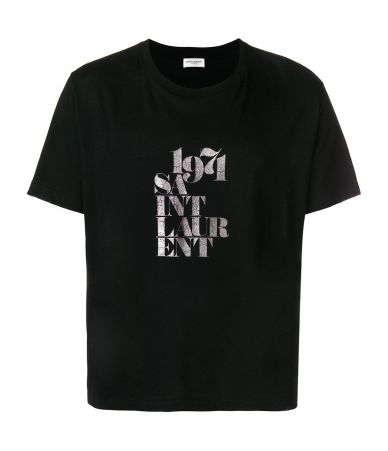 Saint Laurent, Men T-Shirt 1971 Printed, 529629YB2VM1081
