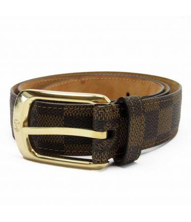 Curea dama, Louis Vuitton, Ellipse Damier Ebene Canvas Belt, M6995