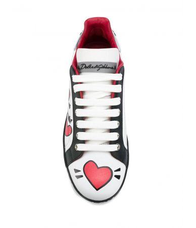 Pantofi sport, Dolce & Gabbana, PRINTED SNEAKERS, 1544