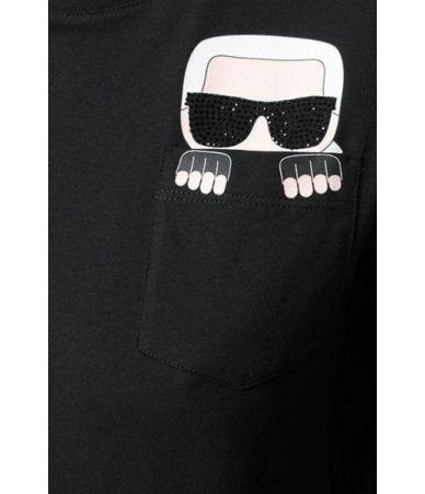 Tricou dama, KARL LAGERFELD, Print T-shirt, 96KW1718