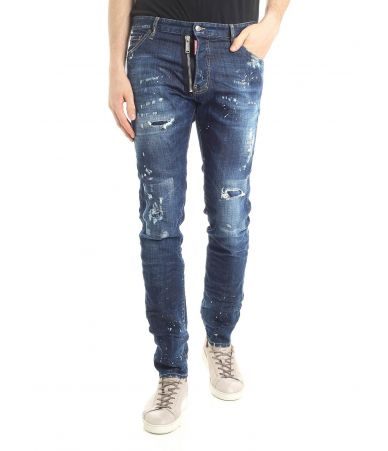Blugi barbat, Dsquared2 Zip Detail, Cool Guy Jeans