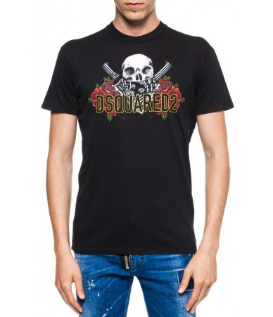 Tricou barbati, Dsquared2, LOGO-PRINTED T-SHIRT, S74GD0418