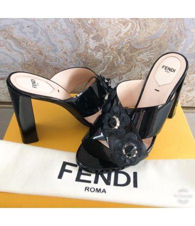 Fendi, Flowerland Embellished Studded Sandals