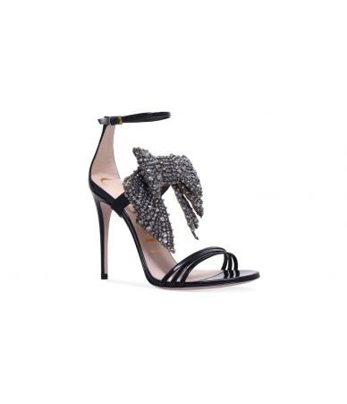 Sandale Gucci, Patent Crystal Removable Bow Sandals