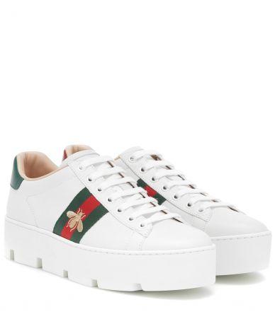 Pantofi sport Gucci, Ace Embroidered Platform Sneaker, 577573