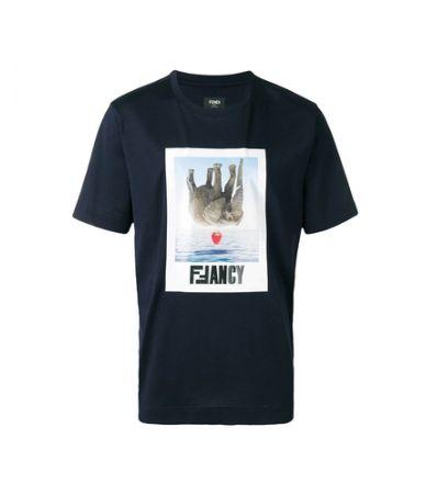 Fendi, Fancy Graphic Print T-Shirt, FY0889 A4PG