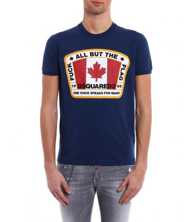 DSQUARED2 T-shirt, Canada flag, S74GD0379