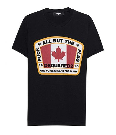 DSQUARED2 T-shirt, Canada flag black, S74GD0379 900