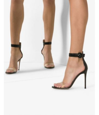 Gianvito Rossi, Leather Sandals, Black Portofino, 12763250