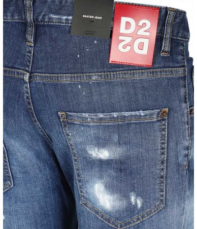 Blugi barbati, Dsquared2, WASH SKATER Jeans, S71LB0720