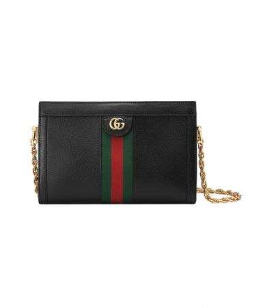 Gucci, Black Ophidia Small Shoulder Bag, 14021058