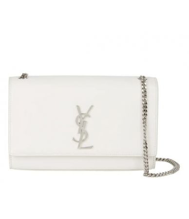 YSL, Medium Kate Bag White