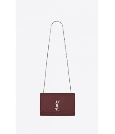 YSL, Medium Kate Bag White Dark Red