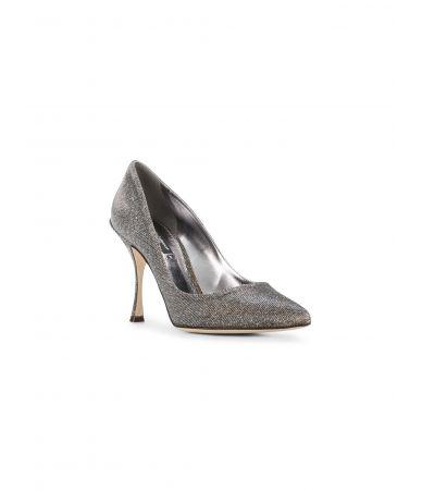 Pantofi cu toc, Dolce and Gabbana, Metallic Lori Glitter Lurex, CD1071AH913