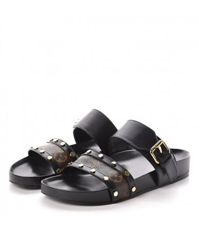 LOUIS VUITTON, Bom Dia Flat Mule Sandals, MA1108