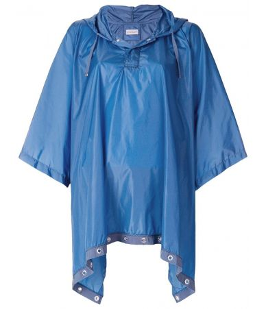 Moncler Grommet, Trim Hooded Poncho