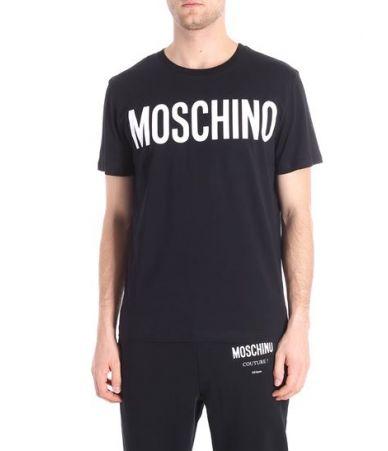 Moschino, WHITE LOGO PRINT T-SHIRT, A07040240