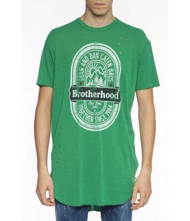 Dsquared2, Brotherhood T-shirt Green, S71GD0593 639