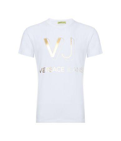Tricou barbati, Versace Jeans, Imprimeu Auriu, B3GPB776 36620 003