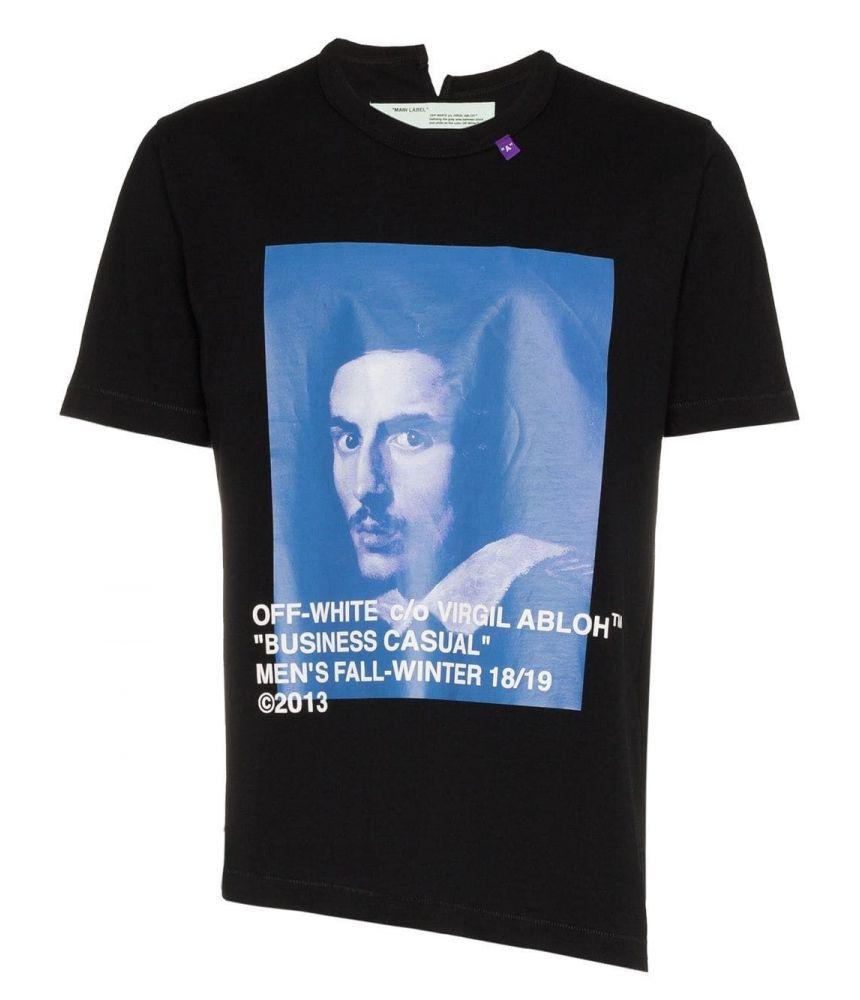 Off White, Bernini S/S Spliced T-Shirt black