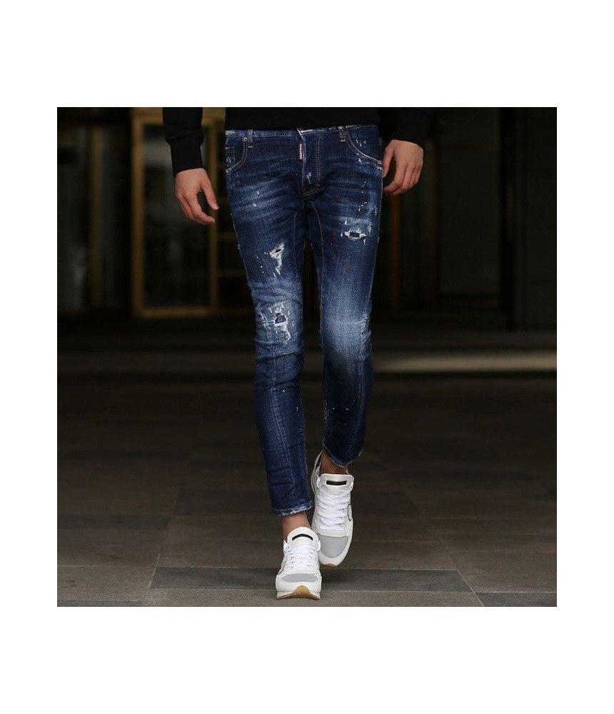 Blugi barbat Dsquared2, Tidy Biker Jeans, Skinny Fit