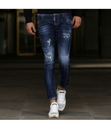 Blugi barbat Dsquared2, Tidy Biker Jeans, Skinny Fit