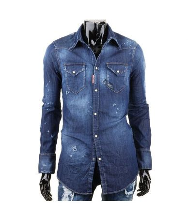 Camasa denim, Dsquared2 Slim Fit Shirt, S71DM0006
