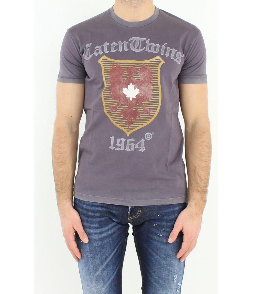 Dsquared2 T-Shirt, Print RTW Eagle, Caten Twins 1964, S71GD0516
