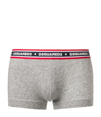 Dsquared2 Trunks, Red Band, Logo, gray front