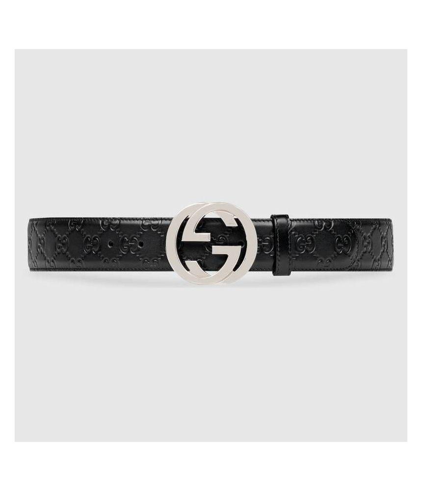 Gucci GG, Men's Belt, Calfskin Leather, 411924 CWC1N