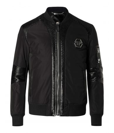 "Geaca barbat, Philipp Plein, Leather Bomber ""Piton"""