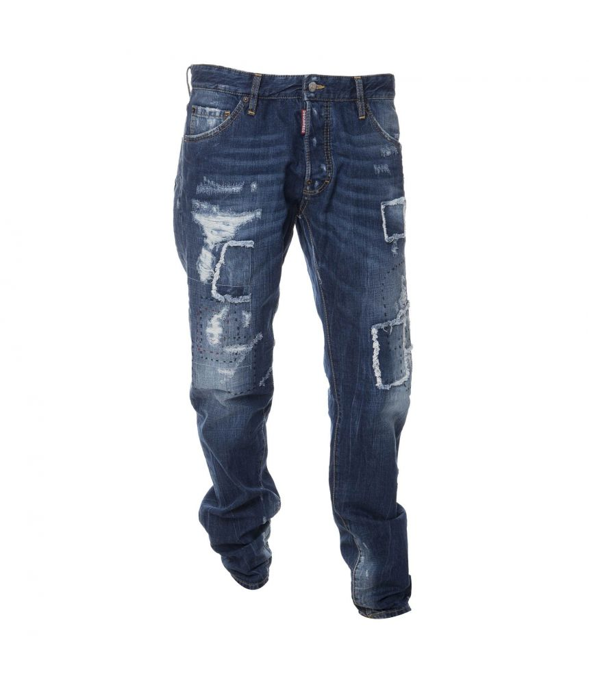 Dsquared2, Cool Guy Jeans, Patched, Destroyed, S71LB0170