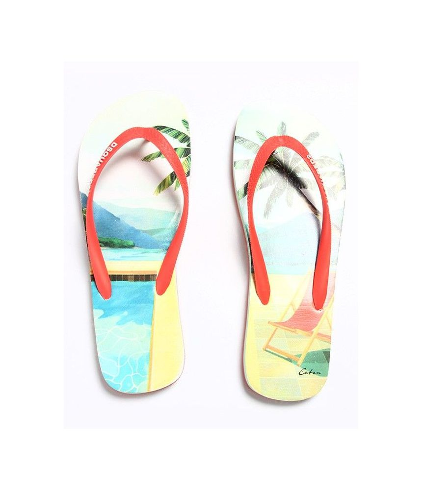 Dsquared2 Flip Flops, Palm Tree Print, S15FF40117221242