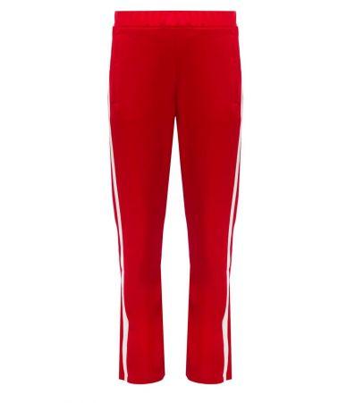 Pantaloni sport, Moncler, rosii, cu dungi