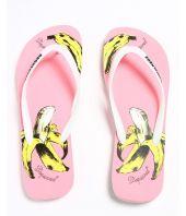 Papuci de plaja Dsquared2, Banana Flip Flop, Roz, S15FF401172M55